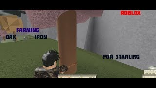Roblox:Tradelands Gathering Iron And Oak (part 1)