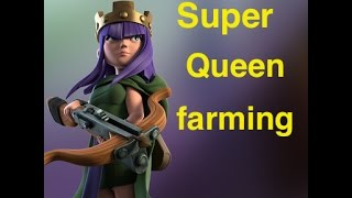 Clash of Clans: Dark Elixir Farming for TH10 & TH9 - Super Queen !