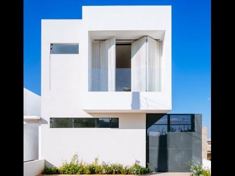 Sencilla casa de dos pisos con planos y dise o interior - Diseno interior de casas ...