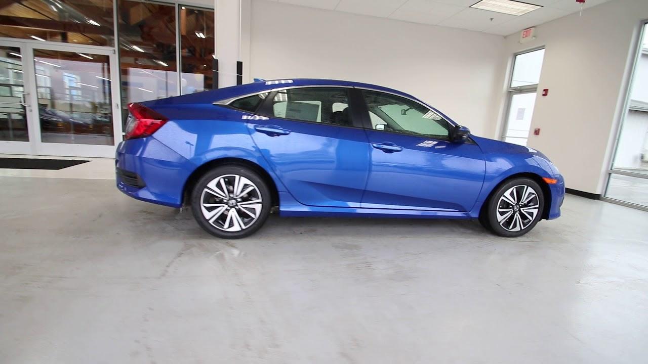 Blue Honda Civic >> 2018 Honda Civic Ex T Aegean Blue Metallic Jh640096 Seattle Sumner