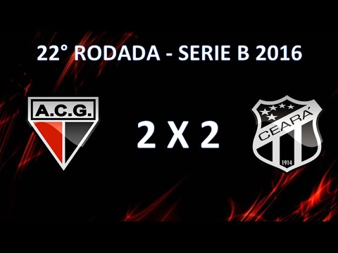 Melhores Momentos - Atlético-GO 2 x 2 Ceará  - 22 Rodada Campeonato Brasileiro Serie B 2016