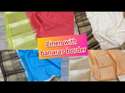 Linen by linen New style|Pure banarasi handloom linen by linen with price