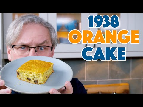 🔵 1938 Orange Cake Depression Era Recipe || Glen & Friends Cooking