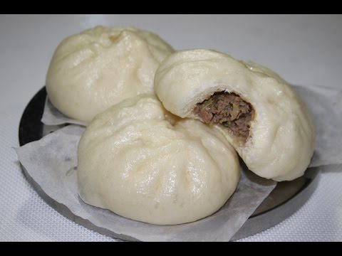 steamed meat buns baozi recipe cooking a dream youtube. Black Bedroom Furniture Sets. Home Design Ideas