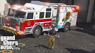 GTA 5 Firefighter Mod Pride of Los Santos Rescue Engine
