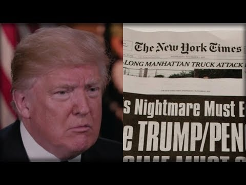 NIGHTMARISH THING THE NEW YORK TIMES ALLEGEDLY PRINTED IS TREASON AND TRUMP SHOULD TAKE THEM DOWN