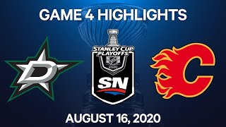 NHL Highlights | 1st Round, Game 4: Stars Vs. Flames - Aug 16, 2020