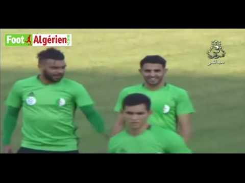 Équipe nationale d'Algérie : Dernier entraînement des Verts avec le match face au Zimbabwe