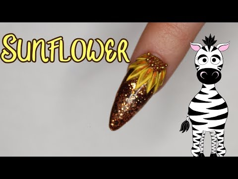 3D Sunflower Acrylic Nail Art Tutorial   MelodyMinutes thumbnail