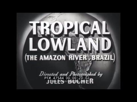 THE AMAZON RIVER AND AMAZON RIVER BASIN  MANAOS BRAZIL 1949 FILM 47584