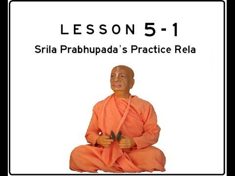 Khol (Mridanga) Lesson 05 Part 1 of 10: Srila Prabhupada's Practice Rela