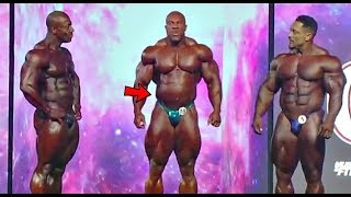 Phil Heath could not Control his Gut between poses (Video Footage)