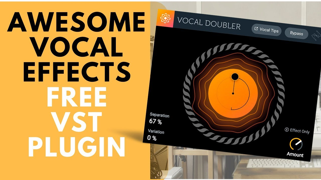Free VST for awesome vocal effects -iZotop's Vocal Doubler