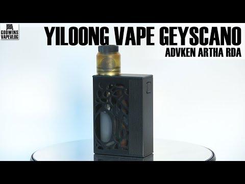 Elektronická cigareta / Squonk Kit - Yiloong Vape Geyscano & Advken Artha RDA - Recenze (CZ)