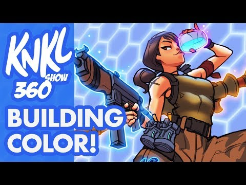 KNKL 360: Building COLOR! (How to experiment with color easily! Featuring: Fortnite!)