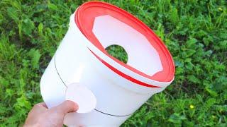Мало кто знает этот секрет пластикового ведра! Отличная идея своими руками!