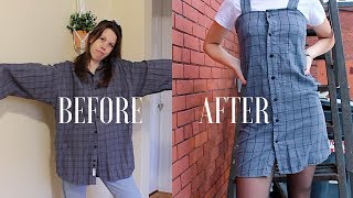 DIY | Upcycle Men's Button Up Shirts -- Ep. 2: Dress (Urban Outfitters Style)