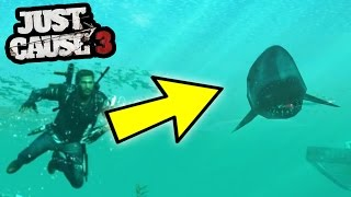 JUST CAUSE 3'S BIGGEST SECRET - GREAT WHITE SHARK/LOCATION! | SuperRebel