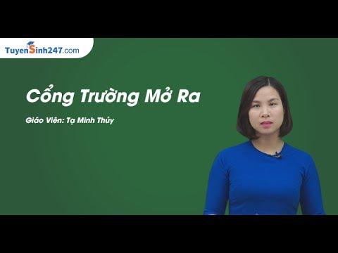 Cổng trường mở ra –Lớp 7 – Cô Tạ Minh Thủy