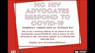 NC HIV Advocates Respond to COVID-19