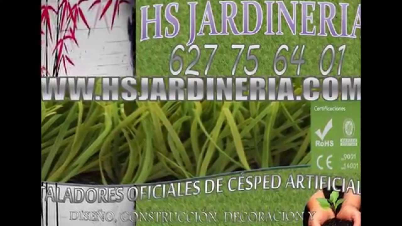 C sped artificial zaragoza hs jardineria youtube - Cesped artificial zaragoza ...