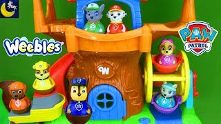 Paw Patrol Toys Weebles Treehouse Ferris Wheel Hide and Seek Game Episode Marshall Funny Toy Stories