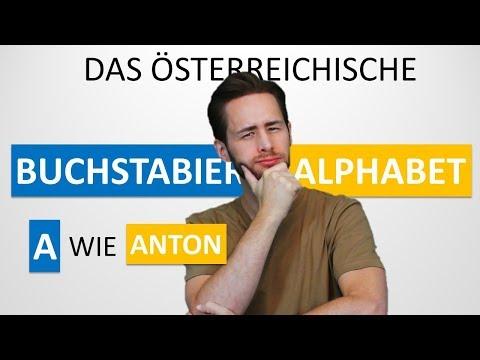 Das österreichische Buchstabieralphabet