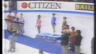 1994 WC Ladies Medals with Surya Bonaly, Sato and Szewczenko