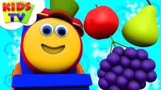 Fruits Train   Preschool Learning Videos   Bob The Train Cartoons   Kids TV