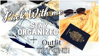 PACK WITH ME! ORGANIZED travel carry-on! Packing Tips + Hacks 2018
