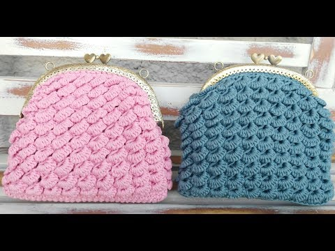 Tutorial pochette punto ventaglietti all'uncinetto/ Crochet bag shell stitch
