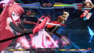 Nitroplus Blasterz: Heroines Infinite Duel Combo Video