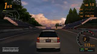 Gran Turismo 3 A-Spec PS2 | Deep Forest Raceway II | Honda CIVIC TYPE R '98