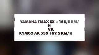 top speed yamaha tmax sx vs kymco ak 550 max acceleration