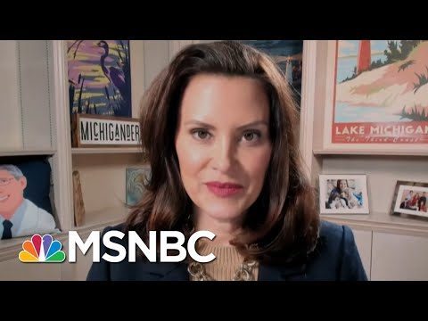 Gov. Whitmer Talks Infrastructure, Guns, And Rising Covid Numbers In Her State   Katy Tur   MSNBC