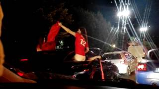 Hot albanian girls partying after albania wins against romania, euro 2016