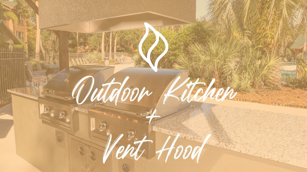 Dual Grill Outdoor Kitchen Vent Hood Youtube
