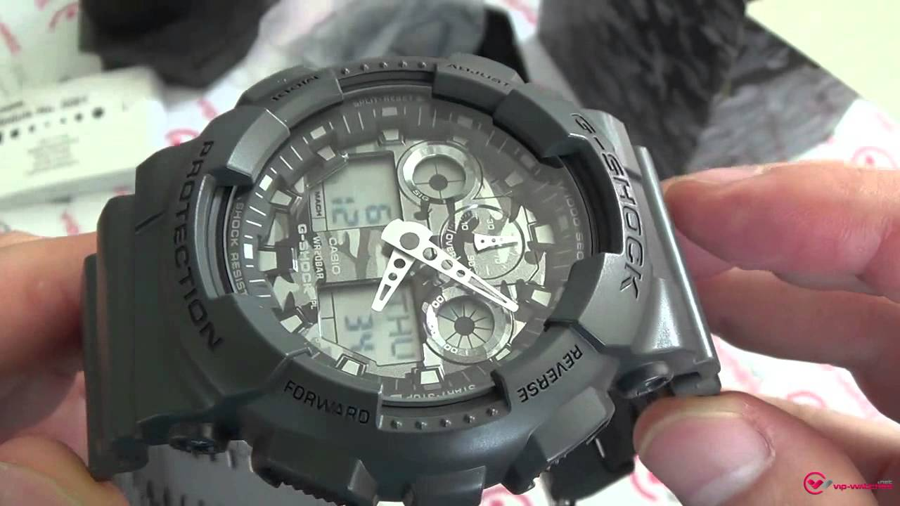 f025364f138 Casio - G-Shock GA-100CF-8AER - YouTube