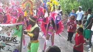 Turbulanzz Band 2nd day parade In Saba Carnival 2013