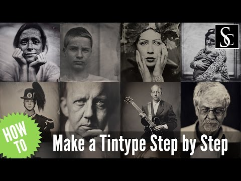 Wet Plate Collodion - How to make a tintype step by step.