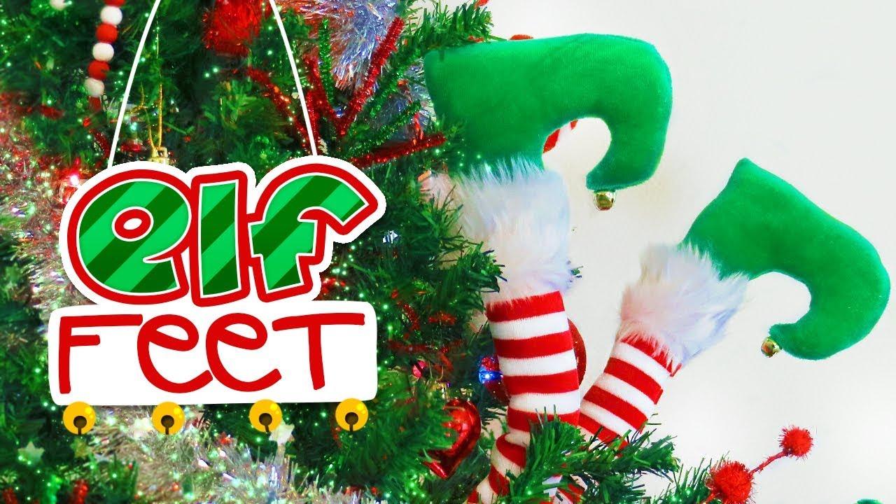 DIY (no Sew) Elf Feet For The Christmas Tree // Dr Seuss