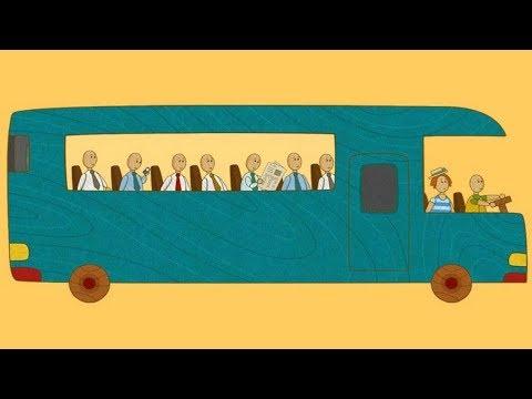 Coches de juguete. Un autobús. Dibujos animados para niños.
