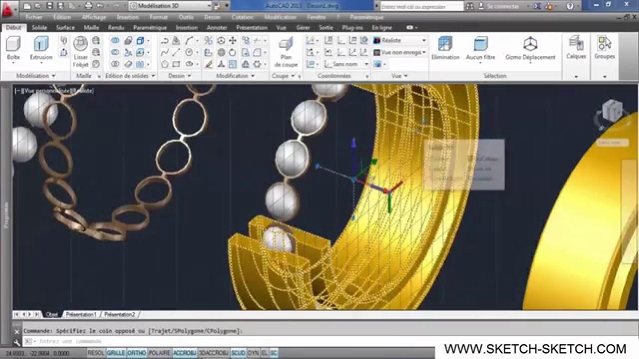 Belajar Autocad 2013 - Membuat bearing 3D (Mechanical) - YouTube