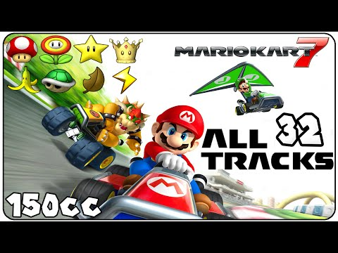 Mario Kart 7 All Courses (Full Race Gameplay)
