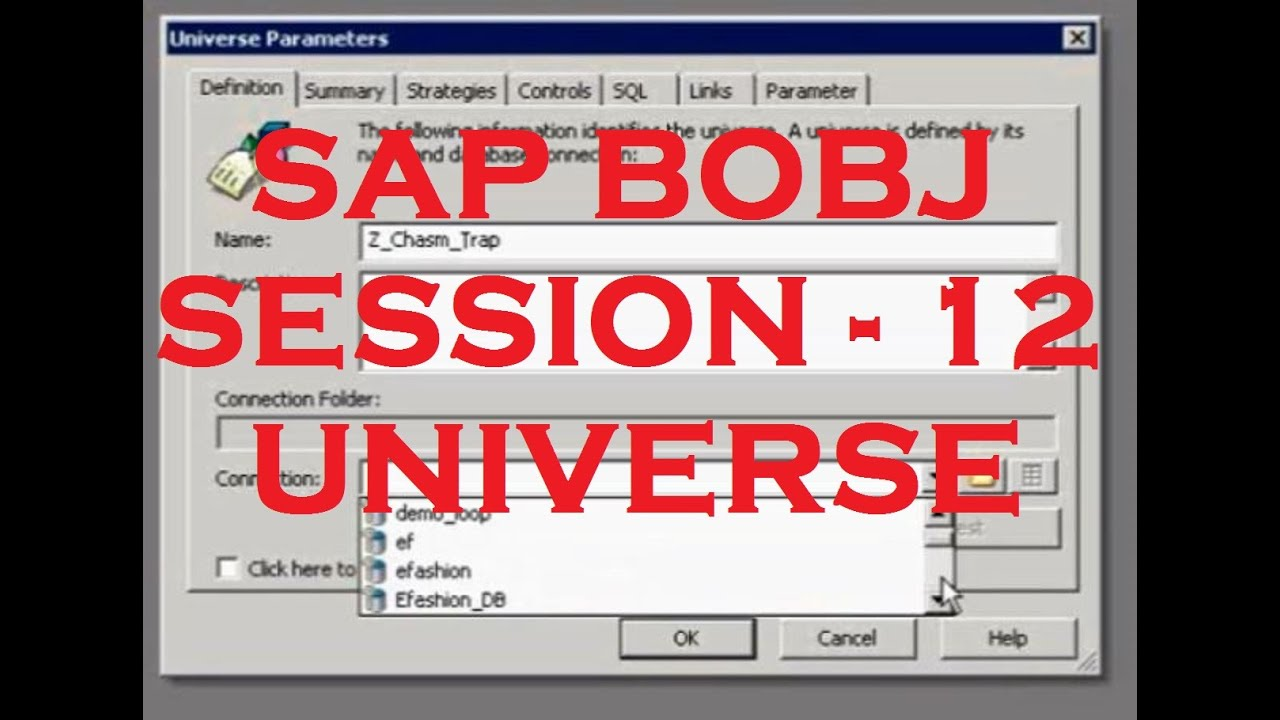 Universe - Part - 5 - Chasam Trap - SAP Business Objects Tutorial ...