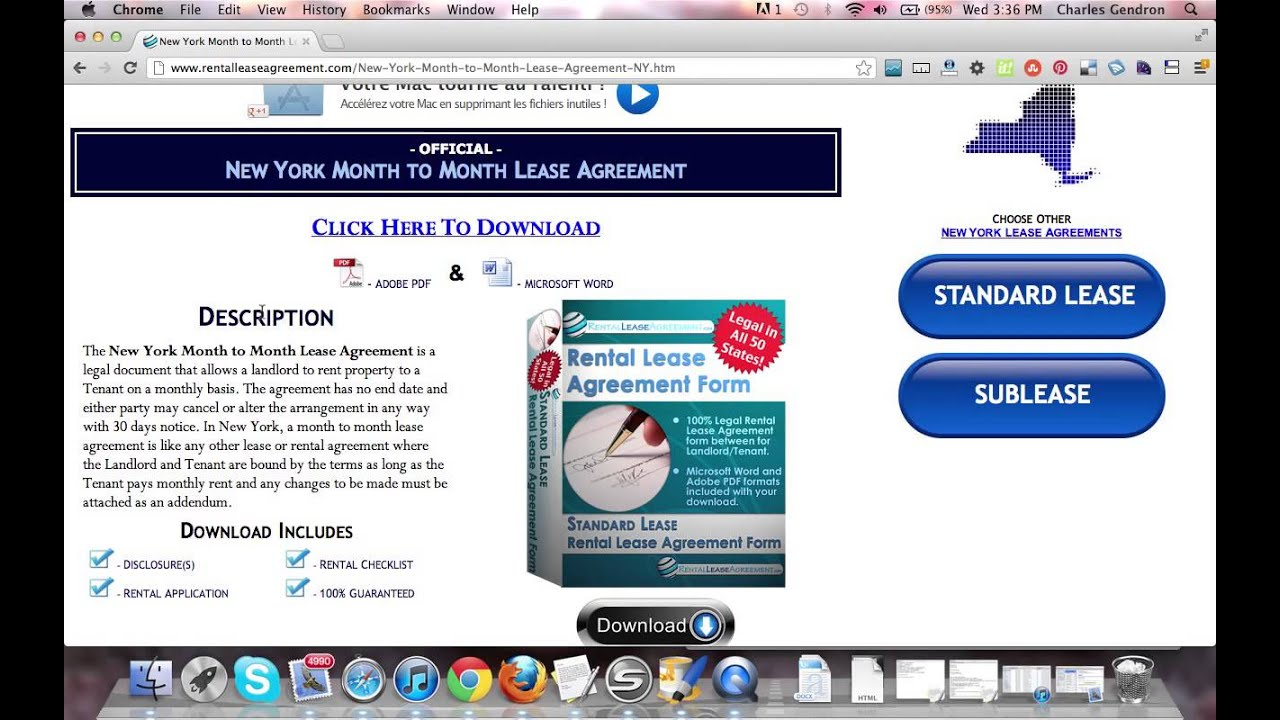 New York Month To Month Rental Agreement Youtube