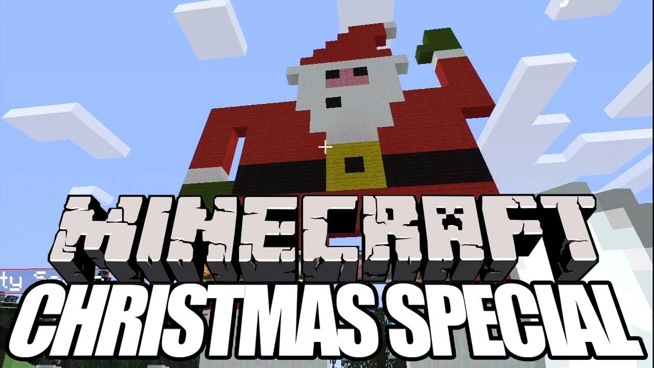 Christmas Minecraft Santa.Minecraft Christmas Speed Build Special Santa Snowman Xmas Tree Outside Xbox