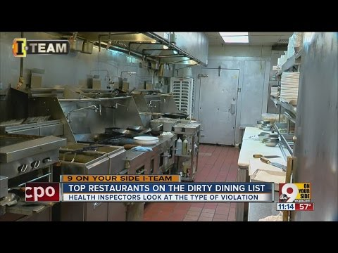 Top restaurants on the dirty dining list