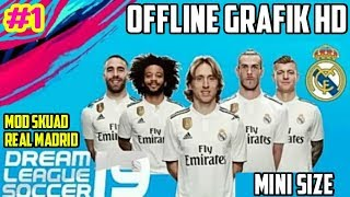 Dls 19 mod full skuad real madrid (mini size) | dream league soccer #1
