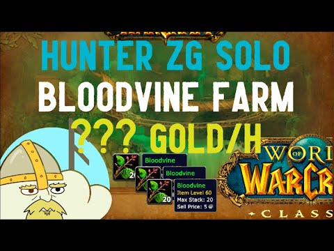 Wow Classic Hunter Solo Farm Bloodvine In Zul Gurub Theory Behind It Youtube